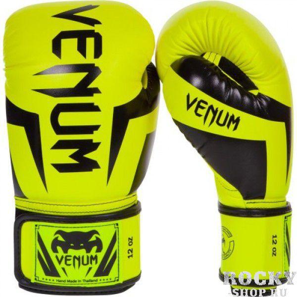 Перчатки боксерские Venum Elite Neo Yellow, 16 унций VenumБоксерские перчатки<br>Перчатки боксерские Venum Elite Neo Yellow изготовлены вручную из синтетической кожи Skintex – качество на высоте. Трехуровневая пена гасит ударную волну всякий раз, когда Вы делаете удар. Уникальный дизайн и цвет подходит для бойцов любого уровня. Усиленные швы и сетчатые панели в сочетании с эргономичной формой обеспечивают удобную посадку руки, создается ощущение, что перчатка и рука – единое целое. Оппонент будет чувствовать на себе элитную силу Ваших ударов. Особенности:Премиум кожа SkintexСетчатая панель под внутренней частью ладони для лучшей терморегуляцииТрехслойная внутренняя пенаУсиленная ладоньБольшой палец прилегает на 100%, что сокращает риск травматизмаУкрепленные швыШирокая эластичная липучка-застежкаДлинные манжеты для лучшей защиты запястьяРучная работа, Тайланд<br>