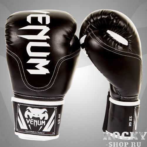 Купить Перчатки боксерские Venum Competitor Boxing Gloves Black Skintex Leather (Black Line) 12 унций (арт. 8271)