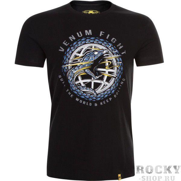 Футболка Venum RTW - Black VenumФутболки<br>Оригинальный змеиный дизайн футболки Venum RTW - Black вносит дух силы и решимости. На картинке мудрый и хитрый змей атакует своего противника. Ткань из 100% хлопка, в котором прохладно и комфортно.<br><br>Размер INT: XXL