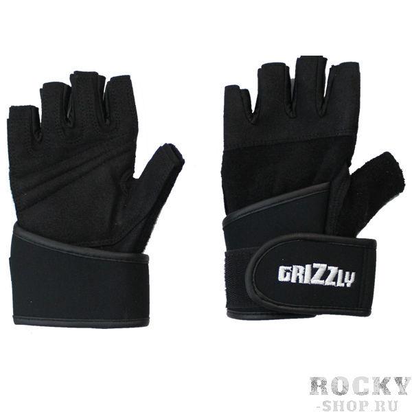 Перчатки для фитнеса, женские, Чёрные GrizzlyПерчатки для фитнеса<br>Отличные женские тренировочные перчатки из кожи и спандексас напульсником для предотвращения травм запястья во время тренировки.<br>