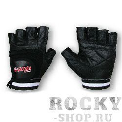 Перчатки для фитнеса, унисекс, Чёрно-белые GrizzlyПерчатки для фитнеса<br>Атлетические перчатки премиум-класса.<br><br>Размер: Размер L