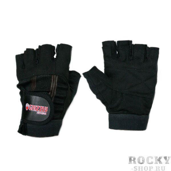 Перчатки для фитнеса, мужские, Чёрные GrizzlyПерчатки для фитнеса<br>Мягкие и прочные перчатки из моющейся кожи Amara.<br>
