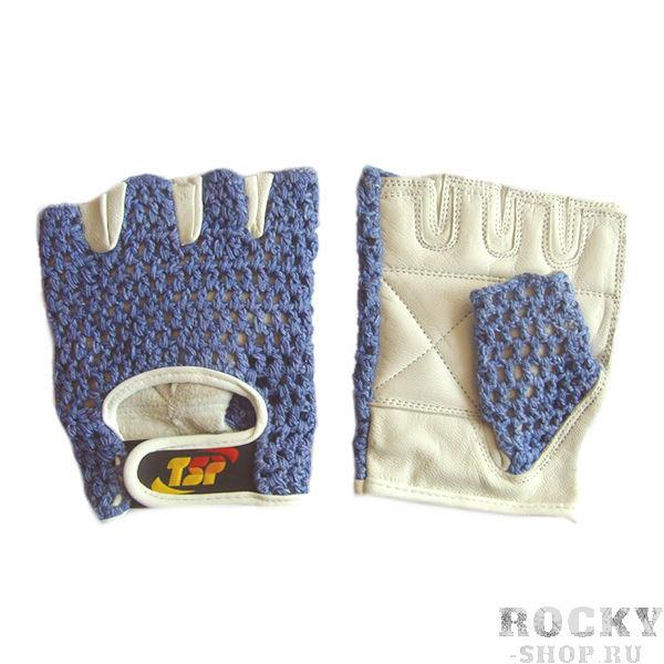 Перчатки для фитнеса, женские, Синие TSPПерчатки для фитнеса<br>Доступные&amp;nbsp;&amp;nbsp;женские перчатки для фитнеса. Наружная часть в виде хлопковой сеткиЛадонная часть перчатки из кожи премиального качестваДополнительные накладки на ладони и пальцахУсиленные швыДоступная цена<br><br>Размер: Размер L