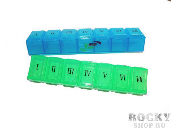 Контейнер для капсул TSP KL-7503, 13*3*2 см TSPБутылки/шейкеры<br>Преимущества:  гипоаллергенный пластик прозрачный корпус небольшой, удобный размер<br><br>Цвет: зеленый