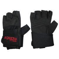 Перчатки для фитнеса Grizzly  GrizzlyПерчатки для фитнеса<br>Кожа. Фиксатор кисти.<br><br>Размер: Размер L