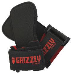 Купить Ремни для тяги с фиксацией кисти, Чёрный/красный Grizzly (арт. 8468)