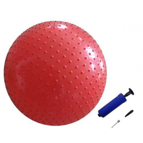 Мяч массажный с насосом GB-02-55, 55 см Sport PioneerГимнастические мячи<br>Мяч представляет собой отличный спортивный тренажер. Уменьшает растяжки и великолепно подходит для профилактики целлюлита. Существует очень много различных способов использования этого мяча в сфере досуга, восстановительной и предупредительной терапии, эрготерапии, а также для гимнастики людям старшего возраста. Эргономичность мяча гарантирует совершенную безопасность при воздействии на суставы и мышцы. Диаметр мяча 55 см подходит для людей, рост которых составляет до 165 см. <br>     занятия лечебной гимнастикой, фит-гимнастикой, универсальной гимнастикой, гимнастикой для расслабления и т. д. <br>     развитие и укрепление мышц спины, живота, ног и рук, формирование и корректировка правильной осанки у детей и взрослых<br>     помощь при болях в спине, игольчатая поверхность мяча массирует и благотворно влияет на нервные окончания, способствует улучшению кровообращения.<br>
