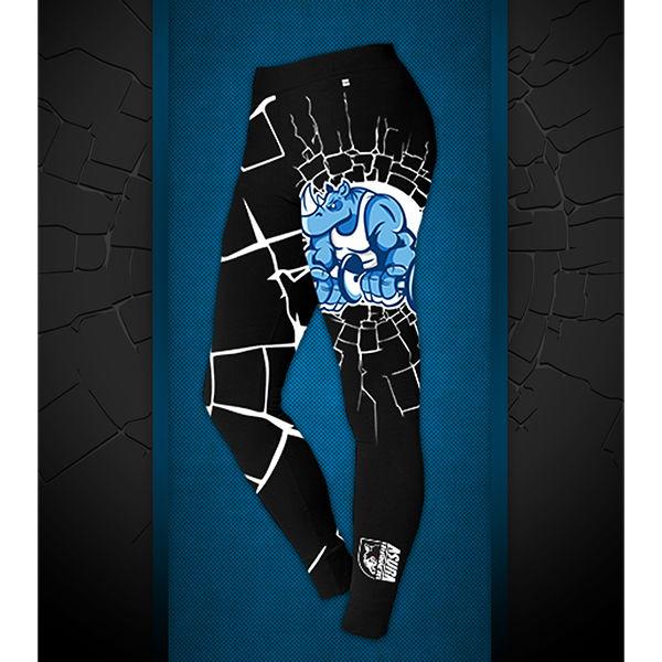 Компрессионные штаны AsurA Power Rhino AsurAКомпрессионные штаны / шорты<br>Компрессионные штаны AsurA Power Rhino– отличная модель от польского бренда.Благодаря высококачественным материалам отлично поддерживают мышцы и суставы, обеспечивают своевременный вывод пота. Изготовлены из плотного материала, который отлично подходит как для занятий борьбой, так и ударных тренировок. Нестандартный дизайн с изображением носорога и девизом «нет выгоды без боли» Состав: 82% полиэстер, 10% спандекс, 8% эластан.<br>