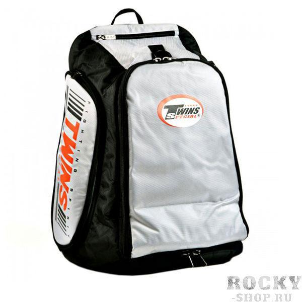 Рюкзак-трансформер от Twins Special,  серый Twins SpecialСпортивные сумки и рюкзаки<br>Очень вместительный и практичный рюкзак для тайского бокса. <br>Идеально подходит для похода на тренировки и путешествий. <br>Ширина 40 см / высота 60 см (с возможностью его расширения до 80 см. ) / 30 см. глубины. <br>Производство Таиланд.<br>