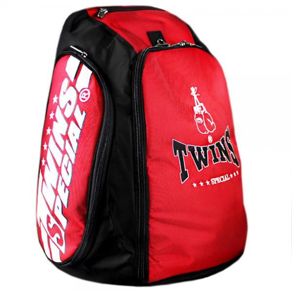 Рюкзак-трансформер от Twins Special,  красный Twins SpecialСпортивные сумки и рюкзаки<br>Очень вместительный и практичный рюкзак для тайского бокса. <br>     Идеально подходит для похода на тренировки и путешествий. <br>     Ширина 40 см / высота 60 см (с возможностью его расширения до 80 см. ) / 30 см. глубины. <br>     Производство Таиланд.<br>