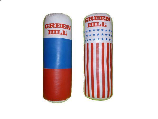 Детский боксерский мешок Green HillСнаряды для бокса<br>Выполнен из тентовой ткани.Наполнение: текстиль.Размер: 45*15 см.<br>