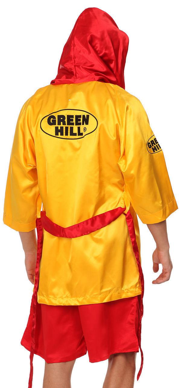 Халат боксерский с капюшоном, Желтый Green Hill