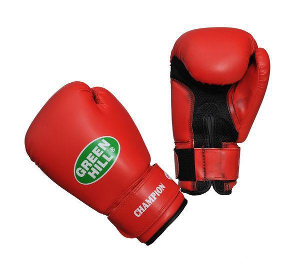 Боксерские перчатки Green Hill CHAMPION, 8oz Green HillБоксерские перчатки<br>Материал: Искусственная кожаВиды спорта: БоксВерх сделан из синтетической кожи, ладонь из замши со вставкой из прочной сетки. Перчатка хорошо проветривается благодаря системе воздухообмена. Манжет на «липучке».<br>