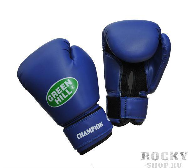 Боксерские перчатки Green Hill CHAMPION, 10oz Green HillБоксерские перчатки<br>Материал: Искусственная кожаВиды спорта: БоксВерх сделан из синтетической кожи, ладонь из замши со вставкой из прочной сетки. Перчатка хорошо проветривается благодаря системе воздухообмена. Манжет на «липучке».<br><br>Цвет: Синий