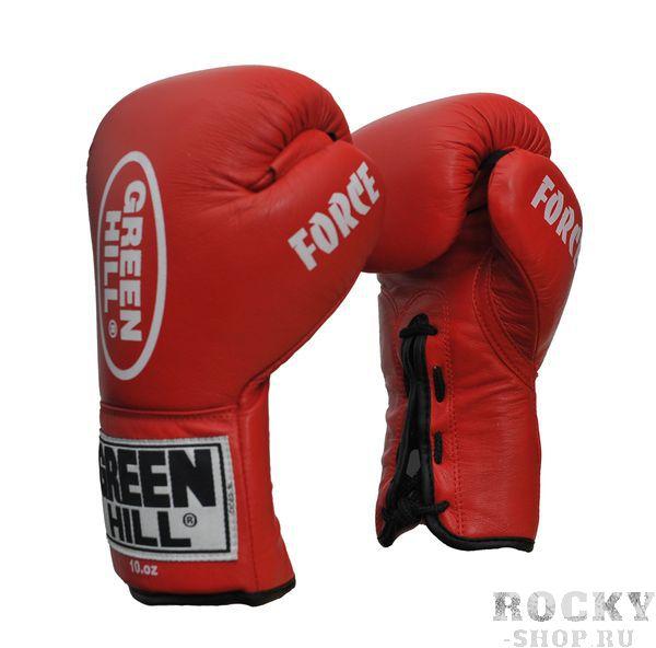 Перчатки боксерские Green Hill FORCE, 10oz Green HillБоксерские перчатки<br>Материал: Натуральная кожаВиды спорта: БоксПрофессиональные перчатки. Долговечные, сделаны из натуральной кожи. Прекрасно подойдут как для профессионалов, так и для любителей.<br><br>Цвет: Красный