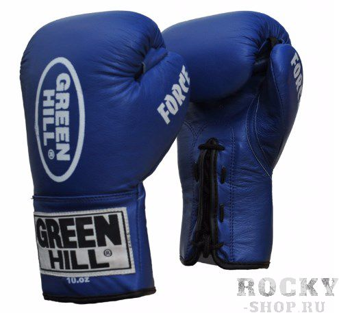 Перчатки боксерские Green Hill FORCE, 16oz Green HillБоксерские перчатки<br>Материал: Натуральная кожаВиды спорта: БоксПрофессиональные перчатки. Долговечные, сделаны из натуральной кожи. Прекрасно подойдут как для профессионалов, так и для любителей.<br><br>Цвет: Синий