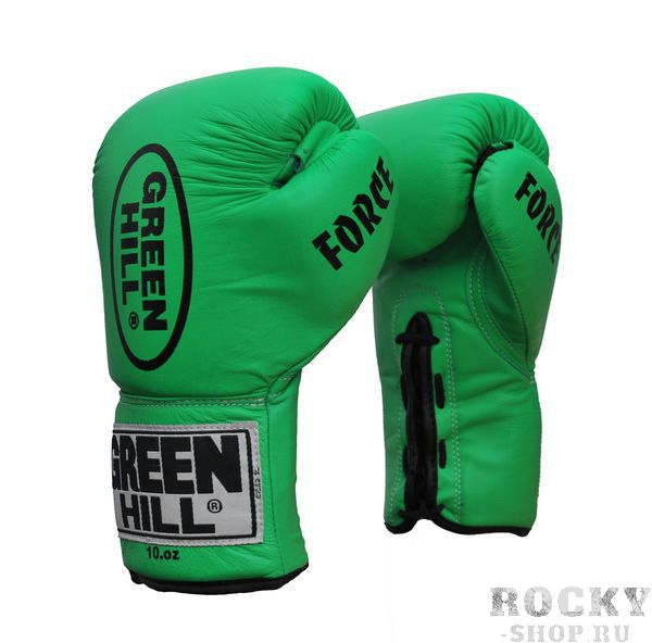 Перчатки боксерские Green Hill FORCE, 18oz Green HillБоксерские перчатки<br>Материал: Натуральная кожаВиды спорта: БоксПрофессиональные перчатки. Долговечные, сделаны из натуральной кожи. Прекрасно подойдут как для профессионалов, так и для любителей.<br>