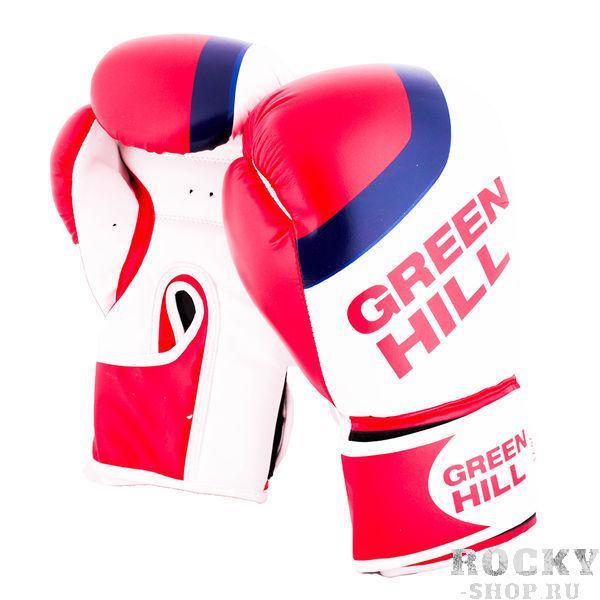 Перчатки боксерские Green Hill FLAG, 10oz Green HillБоксерские перчатки<br>Материал: Искусственная кожаВиды спорта: БоксБоксерские перчатки.Выполнены из искуссственной кожи.<br>