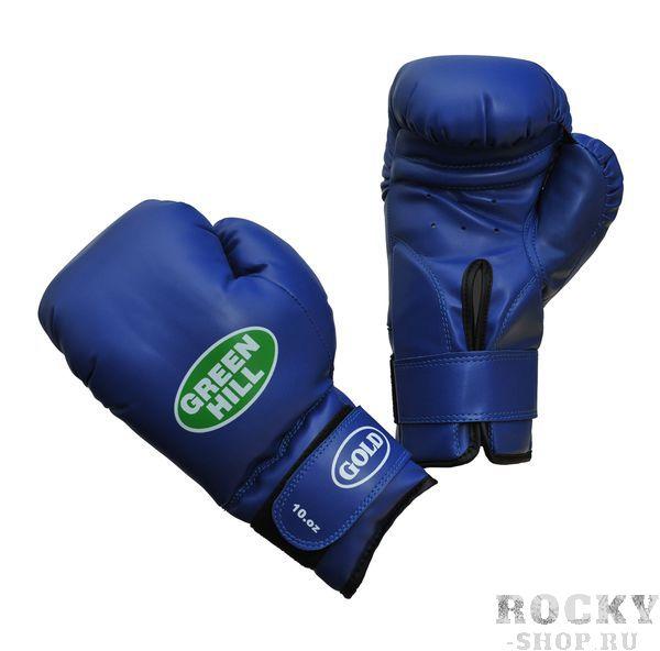 Боксерские перчатки Green Hill gold, 10oz Green HillБоксерские перчатки<br>Материал: Искусственная кожаВиды спорта: БоксБоксерские тренировочные перчатки Gold. Верх сделан из синтетической кожи. Манжет на липучке. Мягкий наполнитель. Уровень защиты выше среднего.<br><br>Цвет: Синий