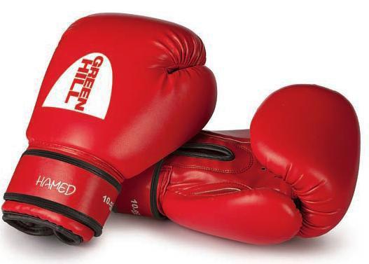Боксерские перчатки Green Hill HAMED без таргета, 16oz Green HillБоксерские перчатки<br>Материал: Искусственная кожаВиды спорта: БоксБоксерские тренировочные перчатки Hamed без выделенной удароной части. Верх сделан из синтетической кожи. Манжет на липучке.<br>