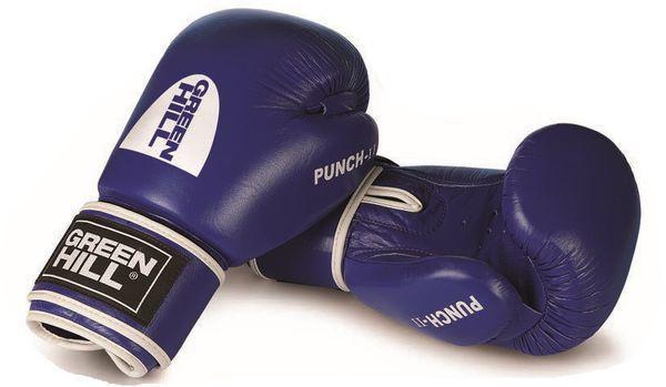 Боксерские перчатки Green Hill PUNCH II, 10oz Green HillБоксерские перчатки<br>Материал: Натуральная кожаВиды спорта: Бокс, Кикбоксинг, Тайский боксБоксерские перчатки GREEN HILL PUNCH II Модель подходит ля всех видов единоборств где применяют перчатки. Подойдет как для бокса , так и для кикбоксинга. Перфорированная поверхность в области ладони, позволяют создать максимально комфортный терморежим во время занятий. Наполнитель: пенополиуретан. Крепление на «липучке».<br><br>Цвет: Синий