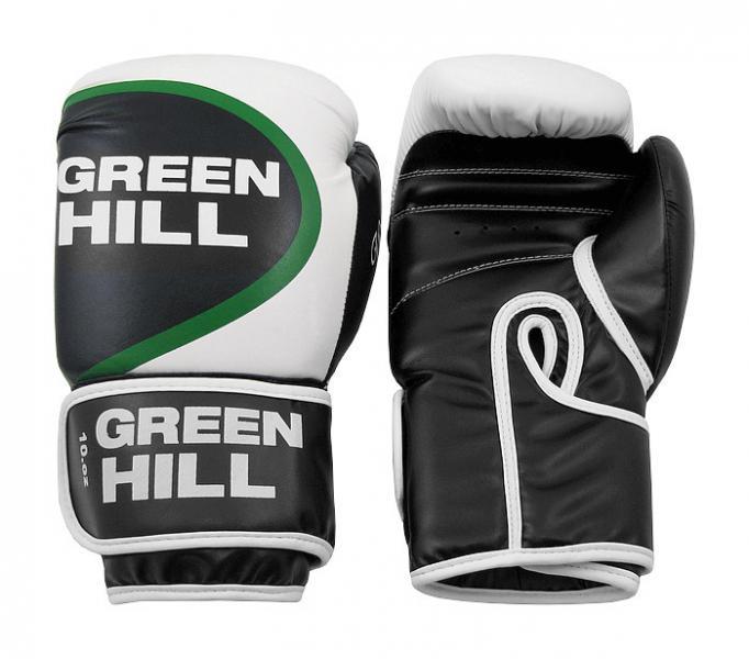 Перчатки боксерские WINNER, 10 oz Green HillБоксерские перчатки<br>Боксерские перчатки WINNER. Материал: искусственная кожа. Широкий манжет на липучке.<br><br>Цвет: белый/черный/зеленый