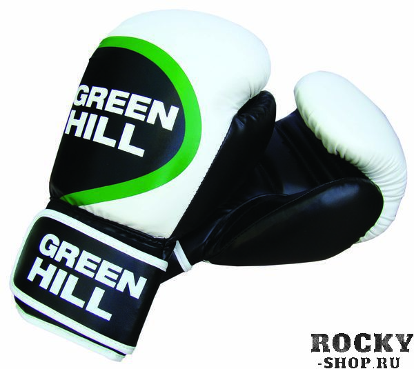 Перчатки боксерские WINNER, 16 oz Green HillБоксерские перчатки<br>Боксерские перчатки WINNER. Материал: искусственная кожа. Широкий манжет на липучке.<br><br>Цвет: белый/черный/зеленый