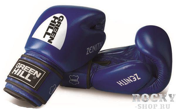 Перчатки боксерские ZENITH, 16 oz Green HillБоксерские перчатки<br>Материал: Натуральная кожаНовая модель тренировочных боксерских перчаток для тайского бокса и кикбоксинга из натуральной кожи. Предварительно сформированный вкладыш. Большой палец пришит. Манжета на липучке шириной 12 см четко фиксирует запястье, снижая риск получения травмы.<br><br>Цвет: Синий