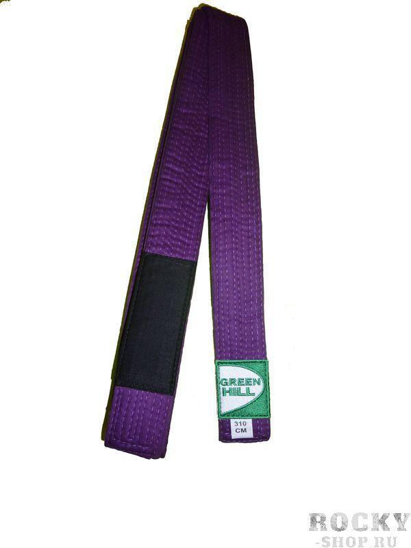 Пояс для джиу-джитсу, Фиолетовый Green HillЭкипировка для Джиу-джитсу<br>Материал: ХлопокВиды спорта: Джиу-джитсуОтличный выбор для профессионалов и любителей.<br><br>Размер: 300см