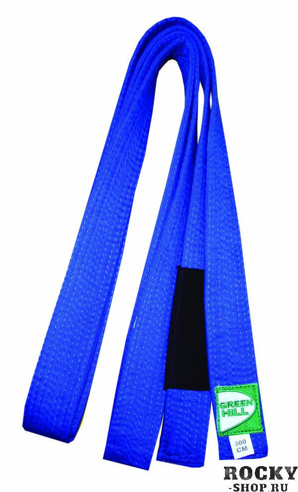Пояс для джиу-джитсу, Синий Green HillЭкипировка для Джиу-джитсу<br>Материал: ХлопокВиды спорта: Джиу-джитсуОтличный выбор для профессионалов и любителей.<br><br>Размер: 240см