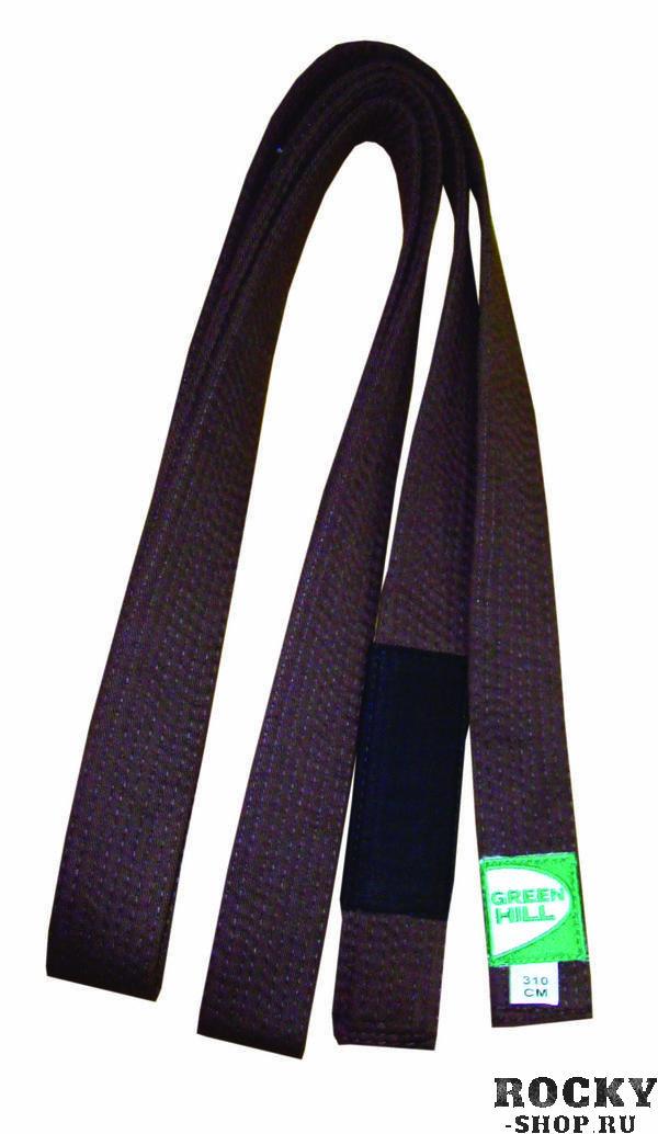 Пояс для джиу-джитсу Green Hill коричневый (арт. 8974)  - купить со скидкой