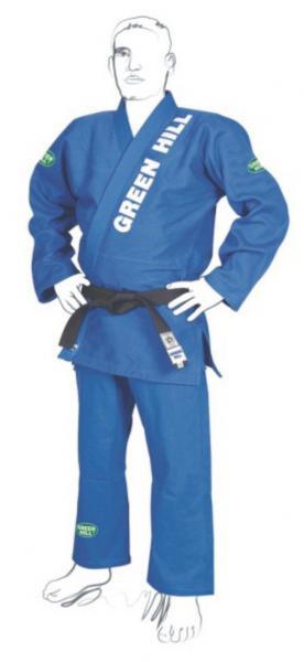 Кимоно джиу-джитсу pro men, Синий Green HillЭкипировка для Джиу-джитсу<br>Материал: ХлопокВиды спорта: Джиу-джитсуКимоно для джиу-джитсу. Куртка сделана из хлопка, плотностью 550 гр. В состав входит рипстоп, наполнитель Ева, усилено двойной просрочкой. Брюки изготовлены из ткани рипстоп, что делает костюм очень легким и удобным в носке. Материал: 100% хлопокКомпания Green Hill производит лучшие кимоно для джиу-джитсу по всему миру. Среди многих кимоно для джиу-джитсу, конструкции костюмов Green Hill, приобрели огромную популярность в бразильском джиу джитсу. В комплект входит:-куртка, -брюки, -пояс. Вышивка сделана: из 100% хлопка и рипстоп с двойной усиленной строчкой. Доступный ценовой диапазонВысокое качество и долговечность.<br><br>Размер: А2