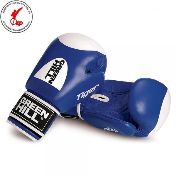 Перчатки боксерские TIGER с таргетом (новый логотип), 10 oz Green HillБоксерские перчатки<br>Боевые боксерские перчатки Tiger. Верх сделан из натуральной кожи, вкладыш- предварительно сформированный пенополиуретан. Манжет на «липучке». В перчатках применяется технология Антинакаут. Перчатки применяются как для соревнований так и для тренировок.<br><br>Цвет: Красный