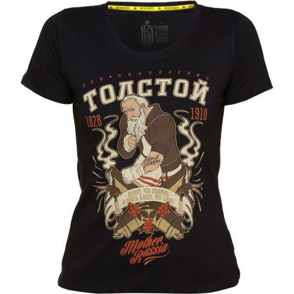Купить Женская футболка Mother Russia Толстой (арт. 9006)