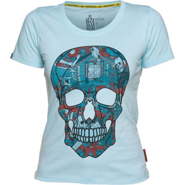 Женская футболка Mother Russia Череп (арт. 9013)  - купить со скидкой