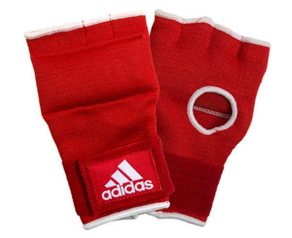 Внутренние перчатки Adidas Super Inner Gloves , красно-белые AdidasБоксерские бинты<br>Внутренние перчатки. Поглощают и распределяют нагрузку. Материал: полиэстер.<br><br>Размер: S