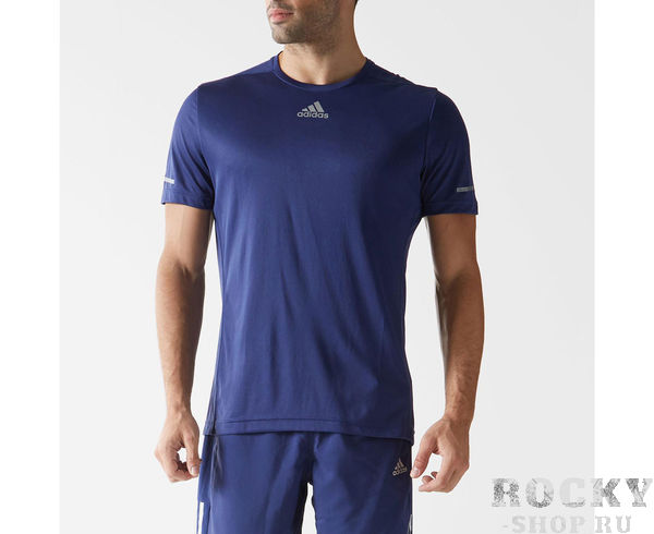 Купить Футболка Sequencials Climalite Running Tee темно-синяя Adidas (арт. 9149)