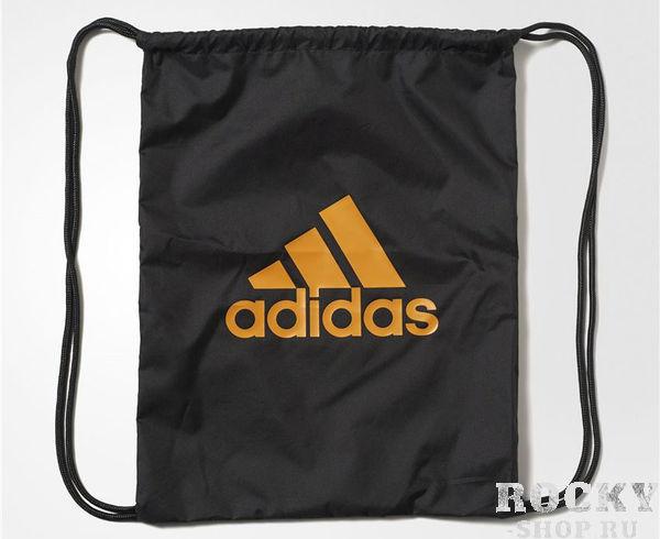 Купить Мешок для обуви Performance Logo Gym Bag черно-оранжевый Adidas (арт. 9165)