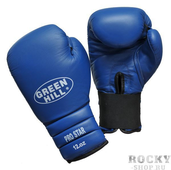 Боксерские перчатки pro star, кожа, 14 oz Green HillБоксерские перчатки<br>Тренировочные перчатки PRO STAR отлично подходят для работы в спаррингах. Верх сделан из натуральной кожи, что обеспечивает долговечность перчаток. Манжет удлиненный-сегментированный, на резинке.<br><br>Цвет: красные