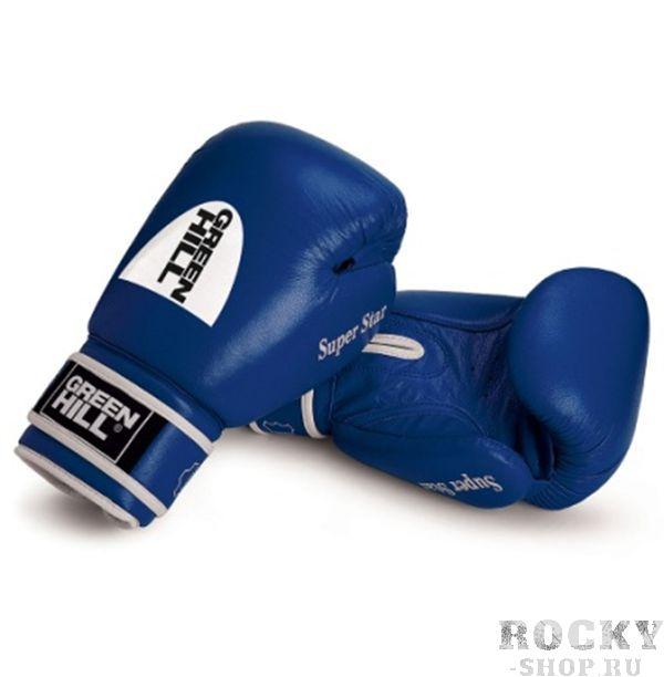 Боксерские перчатки Super Star с новым логотипом, 12 oz Green HillБоксерские перчатки<br>Боевые боксерский перчатки SUPER STAR. Сделаны из натуральной кожи. Боксерские перчатки SUPER STAR это перчатки для профессионалов. Они подойдут для спаррингов и соревнований. Крепление на липучке, позволит быстро надевать и удобно фиксировать перчатку на руке.<br><br>Цвет: красный