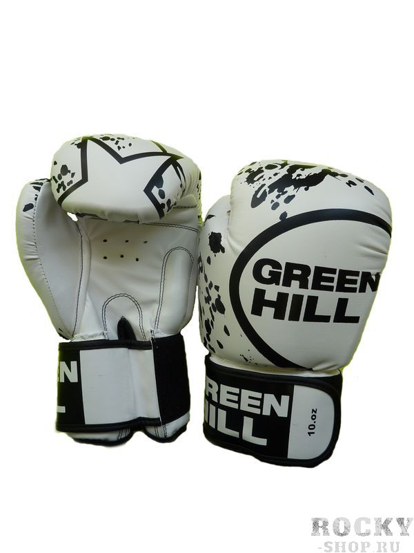 Боксерские перчатки STAR , 14 oz Green HillБоксерские перчатки<br>Перчатки STARСделаны из искуственной кожи. Сделаны по отличным лекалам, средний уровень защиты. Широкий манжет на липучке.<br><br>Цвет: белые