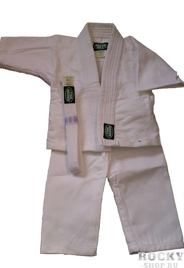 Кимоно для дзю-до baby от Green Hill, 50см Green HillЭкипировка для Дзюдо<br>Материал: ХлопокВиды спорта: Дзюдо100% хлопок. Плотность 200 гр. /мКимоно для будущих спортсменов<br><br>Цвет: Белый