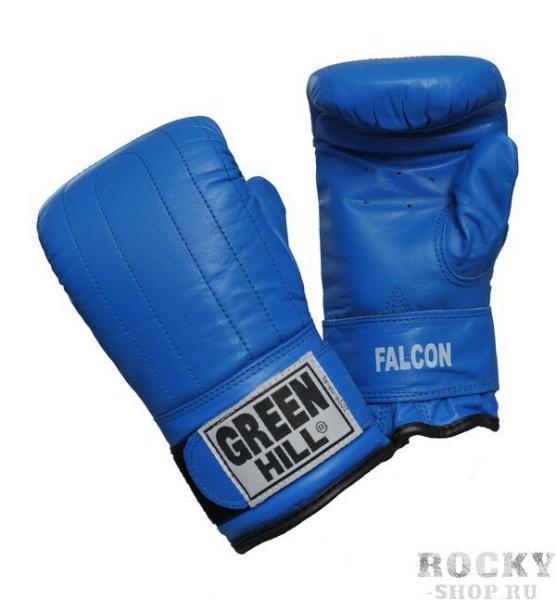 Перчатки снарядные FALCON, Синий Green HillCнарядные перчатки<br>Снарядные перчатки FALCON изготовлены из натуральной кожи. Используются для отработки ударов по боксерскому мешку или специальной подушке. Кожа используемая в этих перчатках гарантирует надежность изделия при больших нагрузках. Манжет на липучке. Размеры:Обмеряйте обхват ладони сантиметровой лентой в наиболее широком месте, исключив при этом большой палец руки Размер: S M L XLОбхват ладони, см. 17-18 18-19 19-22 23-27<br><br>Размер: M