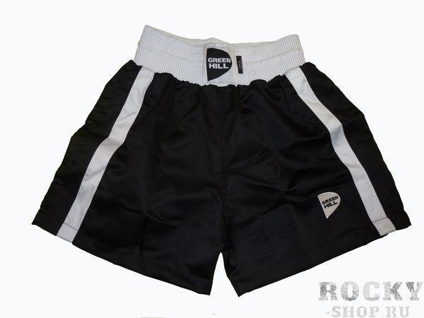 Детские боксерские шорты Kids, Черный Green HillШорты для бокса<br>Материал: ПолиэстерДетские боксерские шорты. Материал: 100% полиэстер.<br><br>Размер INT: 14 лет