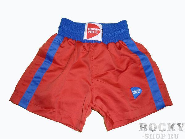 Детские боксерские шорты kids, Красный Green HillШорты для бокса<br>Материал: ПолиэстерДетские боксерские шорты.<br><br>Размер INT: 6 лет