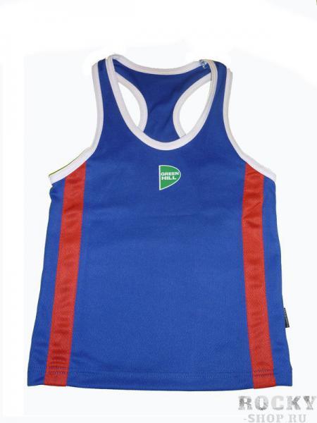 Купить Kids майка боксерская, детская Green Hill синий (арт. 9303)