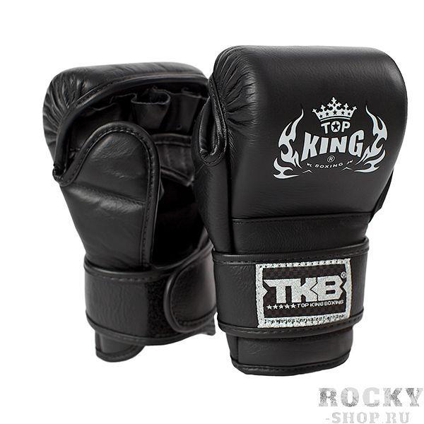 Перчатки для грэпплинга Top King Combat, xl Top KingПерчатки MMA<br><br><br>Цвет: синий (черная липучка, белая ладонь)