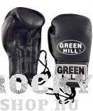 Боксерские перчатки POWER, кожа, 14 oz Green HillБоксерские перчатки<br>Перчатки сделаны из высококачественной натуральной кожи. Плотная посадка на руке обеспечивается за счет фиксации перчаток шнуровкой. Отличный выбор для соревновательных поединков.<br><br>Цвет: черный