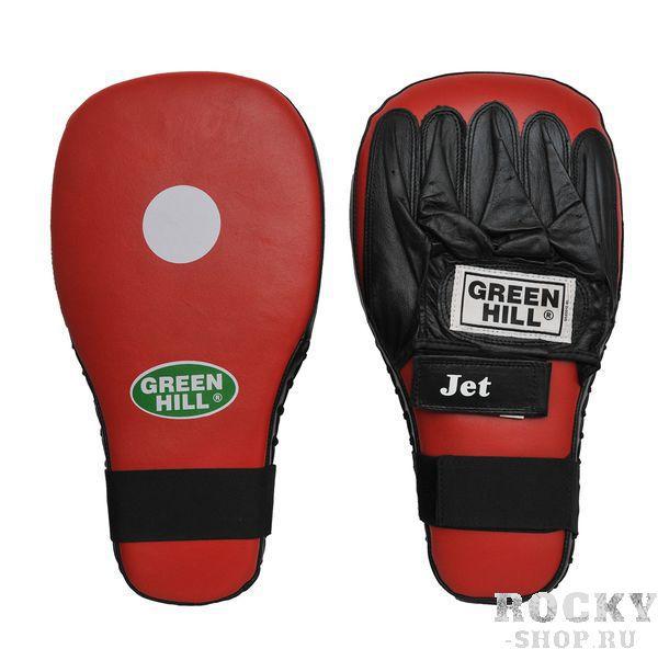 Лапы боксерские  jet Green HillЛапы и макивары<br>Тренерские боксёрские лапы JET с белой мишенью в центре. Прямая лапа применяется для отработки прямых ударов. Могут использоваться также и в других единоборствах кроме бокса. Сделаны из высококачественной кожи. В комплект входят лапы на левую и правую руки.<br>