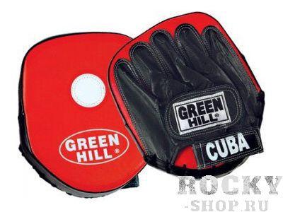 Лапы боксерские Cuba Green HillЛапы и макивары<br>Лапы выполнены из высококачественной искусственной кожи. Имеют плоскую поверхность (такие лапы еще называют «классическими»), с мишенью. Кисть фиксируется застежкой на липучке. Применяются в основном для отработки прямых ударов.<br>